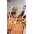 We've been using open ended resources in the sand area - What do you think we have made?