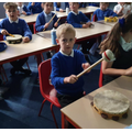We experimented with different instruments