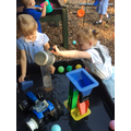 Exploring the outdoor water trays