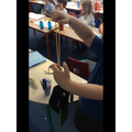 We learned that different shaped bands make different vibrations; making different sounds.