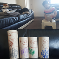 Theo's Little pig puppets