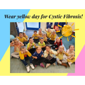 We wore yellow for Cystic Fibrosis day...
