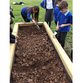 We used tools to work the soil