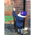 We have loved using our new paint rollers to mark make using water