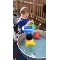 We have enjoyed exploring the water area outside this week!