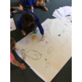 We practiced our drawing skills by drawing who makes us happy!