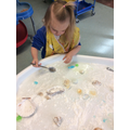 Hayley explores ice, colour and cornflour