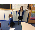 We also did a bit of drama; acting out the Anglo-Saxon's welcoming Eric Bloodaxe's rule.
