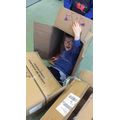 Who knew boxes could be so exciting!! We made lots of things with the boxes!