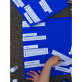 We pieced information together based on the theme of the writing.
