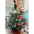 Our beautiful class Christmas tree decorated with our handmade decorations