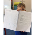 Proudly showing off our Iron Man writing