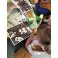 This week whilst we enjoyed snack at the snack table, we looked at pictures from ww1.