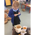 We have made some amazing cups of tea at our potion table!