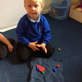 Making dinosaur pictures with 2d shapes