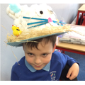 We all worked really hard to decorate our hats