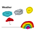 Dylan's beautiful colouring shows us the different weathers!