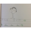We used our phoneme mats to help us use sound out words.