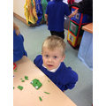 Making play dough shape creatures