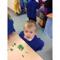 Making play dough shape creatures