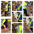 We got very busy in our outdoor construction area - we even build a wall!