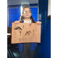Proudly showing off our Stone Age cave paintings