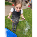 We loved making natural bubble wands!