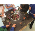 Exploring the malleable area and making exciting potions then writing the ingredients!