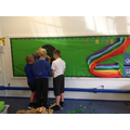 Developing co-operation, communication and teamwork whilst creating a display.