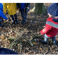 As part of Wednesday Wellies, we made our own bonfire using lots of sticks!