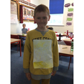 We all wore yellow in support of Cystic Fibrosis - some of us were VERY yellow.