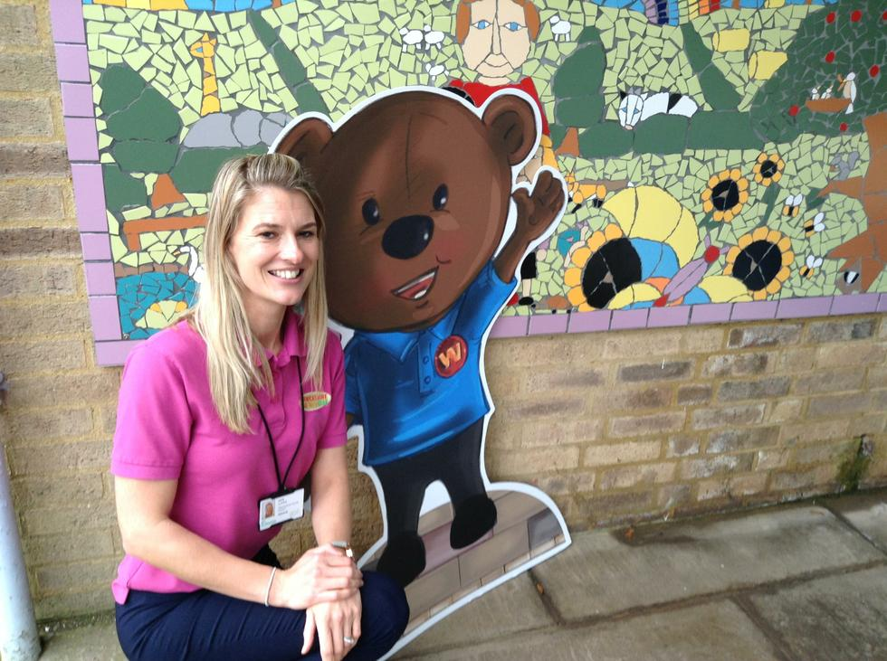 Warwick Bear promotes road safety
