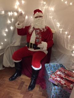 Father Christmas visits the Christmas fayre