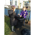 Be responsible for putting rubbish in the bin