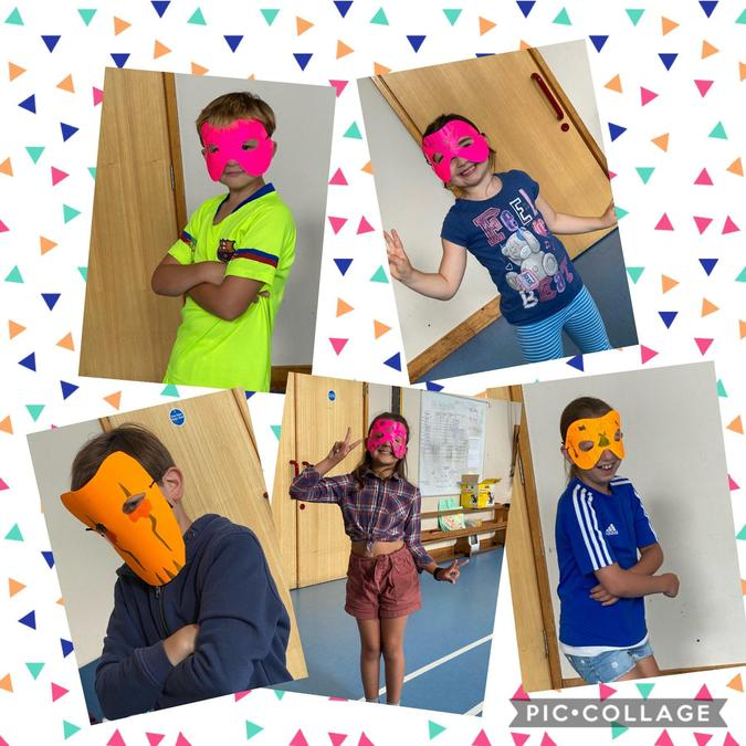 Mask making in Holiday club