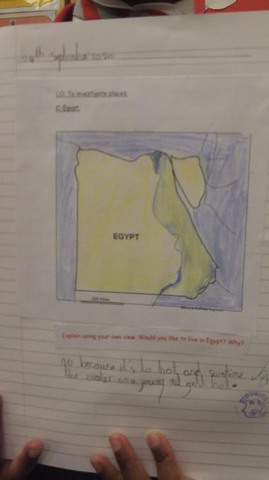 Egypt map work