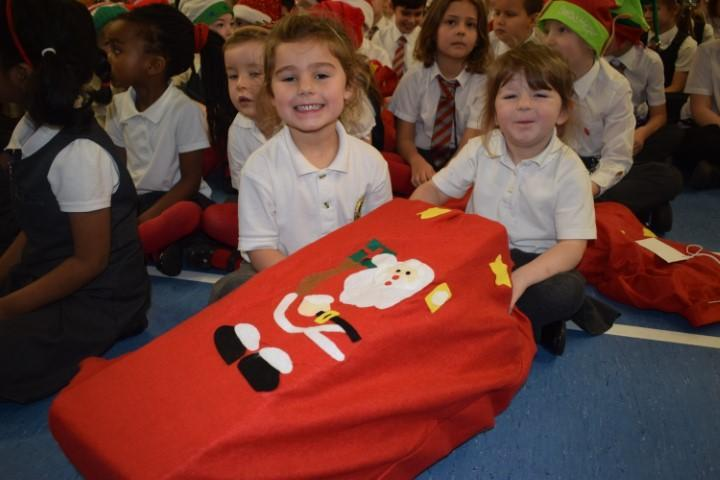 Reception children and their present!