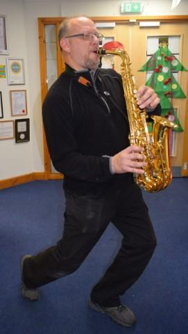 Saxophonist Mr G!