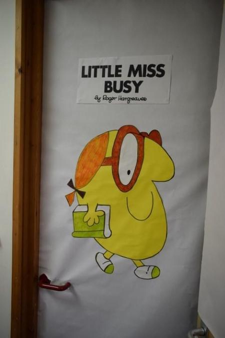 Mrs Featherstone-Wright's office door!