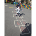 We have lots of games painted on our playground.