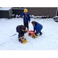 Transporting snow!