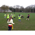 Playing Tag Rugby with coaches from Engage