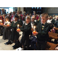The Christingle Service at Coventy Cathedral.