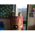 We looked at the items carefully and had a go!