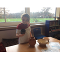 We looked at the Roman pots.