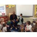 Mr Pankania showed us what dentist wear!