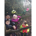 Who knew teddies would be such good tree climbers?