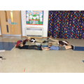 Making a hieroglyph with our bodies