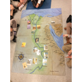 Map of Ancient Egypt with info cards we put on