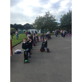 Reception set off round the playground